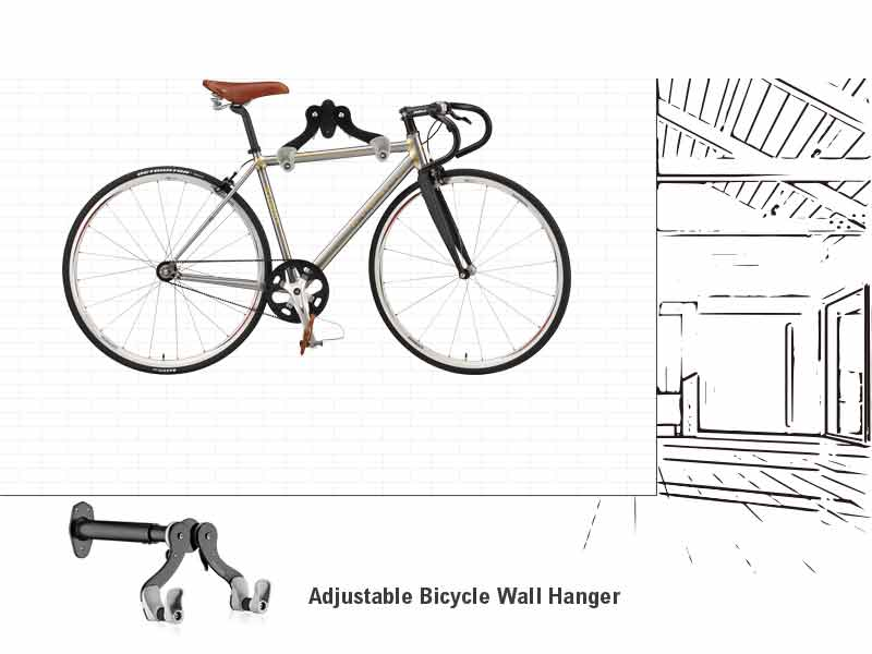 Adjustable Bicycle Wall Hanger : IB-ST4